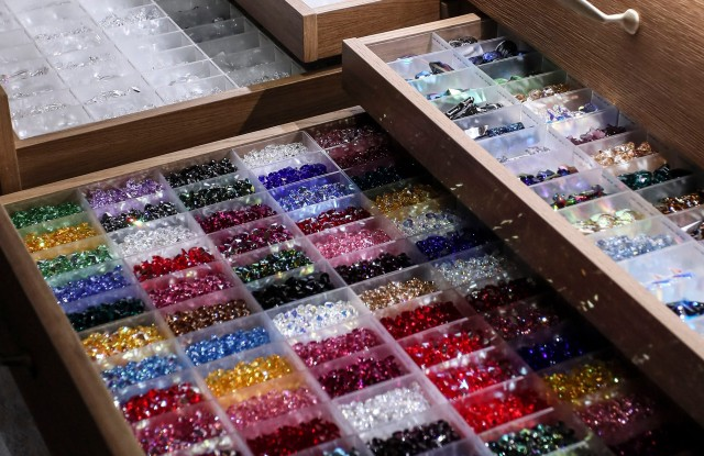 Upcycled crystals from Swarovski's Crystal Studio