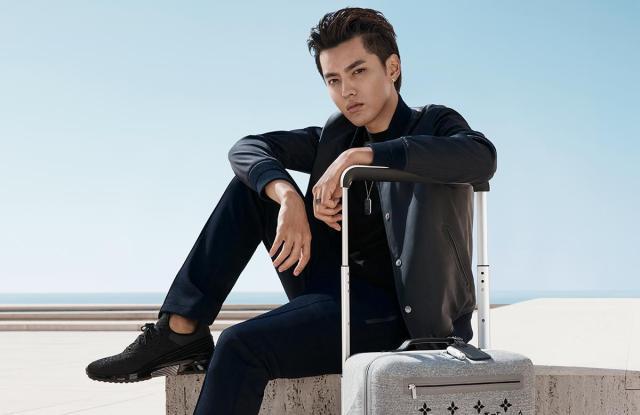 Kris Wu in Louis Vuitton Horizon Soft luggage campaign