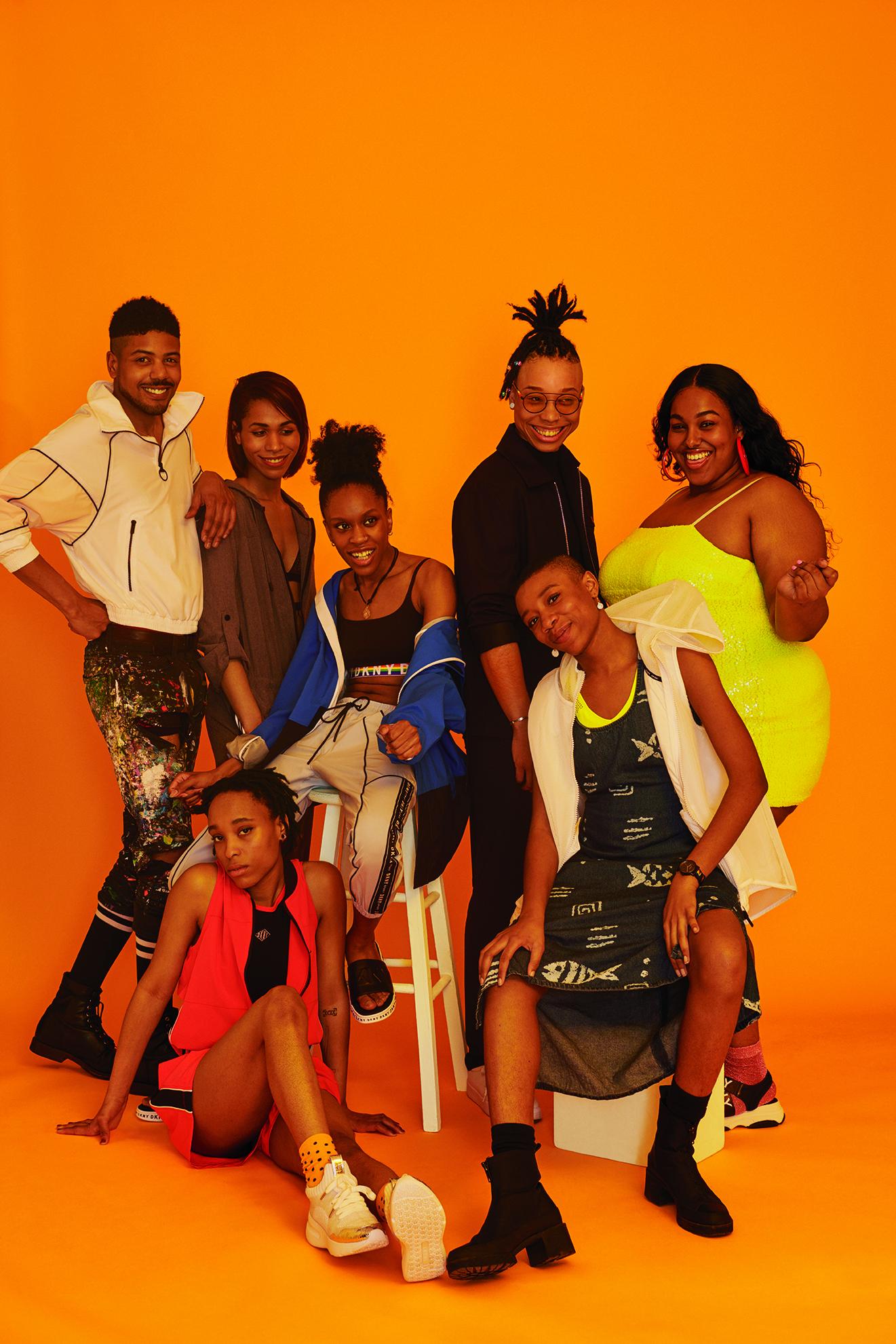 "The DKNY Pride campaign featuring representatives of Hetrick Martin's ""Music Masters"" art program."