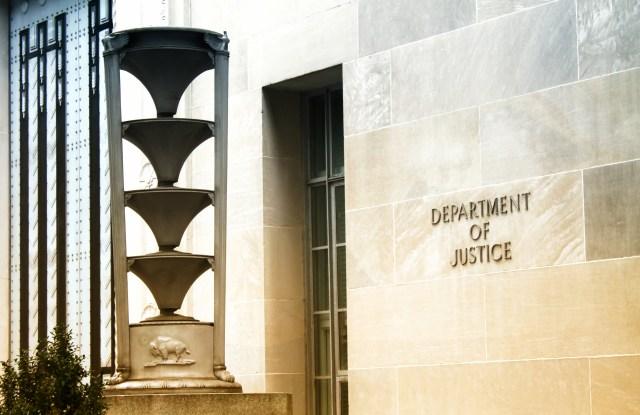 the Department of Justice (DOJ) in Washington, DC.