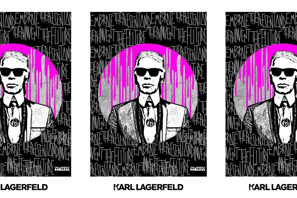 Endless' portrait of Karl Lagerfeld