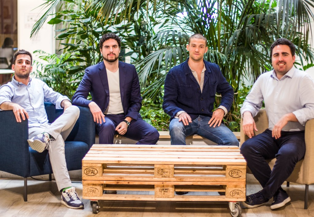 Stamp's founders. From left to right: Federico Degrandis, Stefano Fontolan, Wagner Eleuteri and Michele Fontolan.