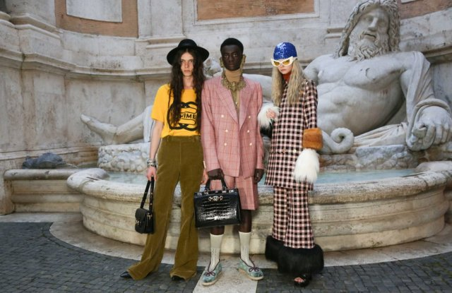 Backstage at Gucci Cruise 2020