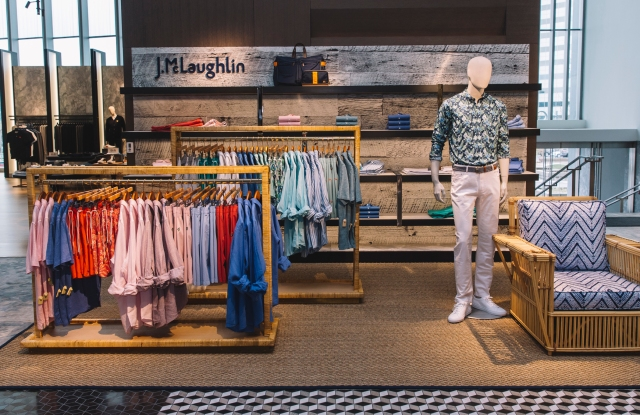 The J.McLaughlin pop-up at Holt Renfrew in the Square One Shopping Centre in Toronto.