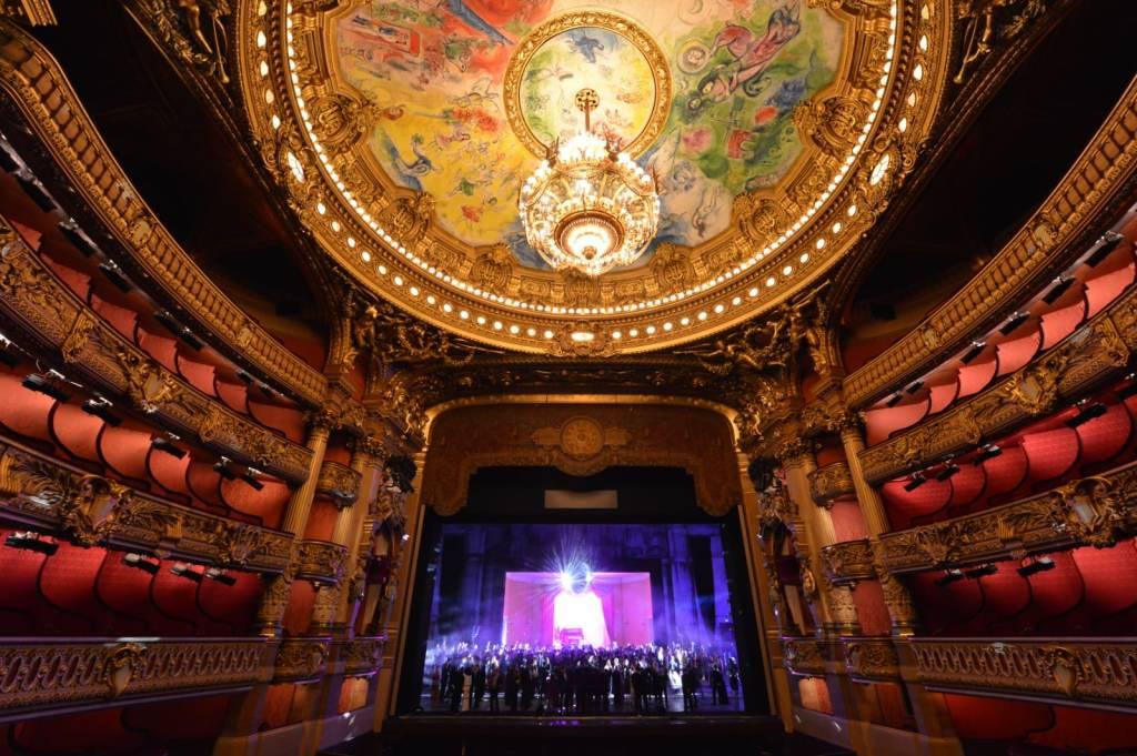 The scene at the Palais Garnier
