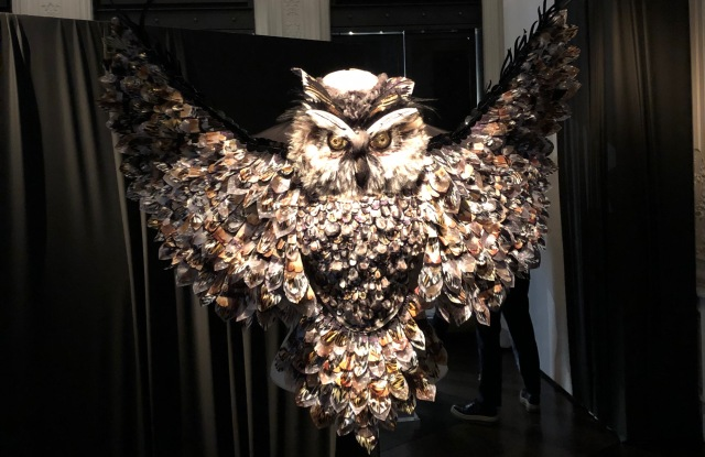 An owl corset created by Maison Lesage