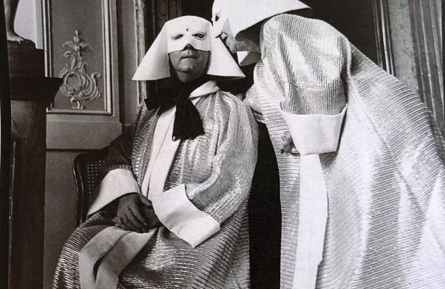 Christian Dior and Marie-Louise Bousquet at the ball in 1951