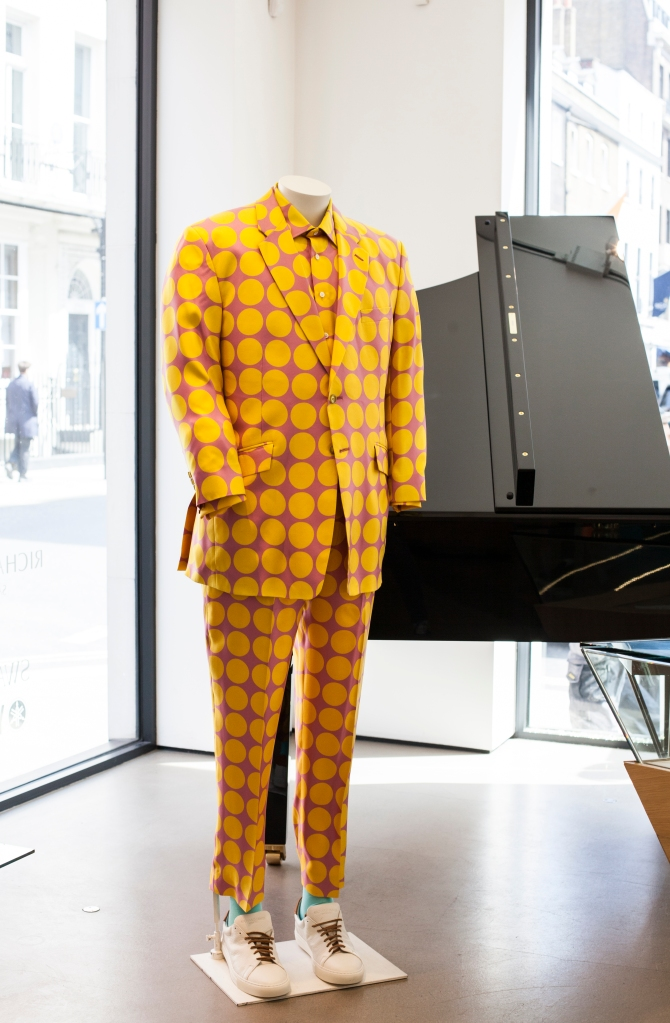 Savile Row tailor Richard James' Rocketman window display