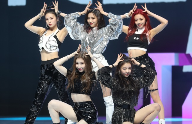 South Korean girl group ITZY performs during a showcase for its debut single album 'IT'z Different' in Seoul.