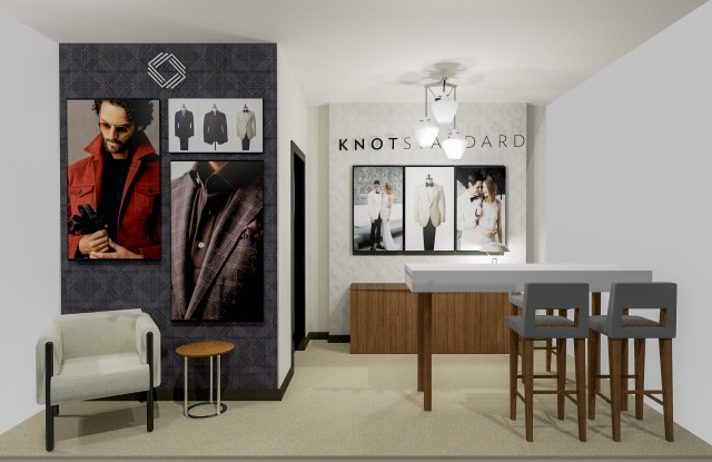 A rendering of the Knot Standard shop at Bloomingdale's.
