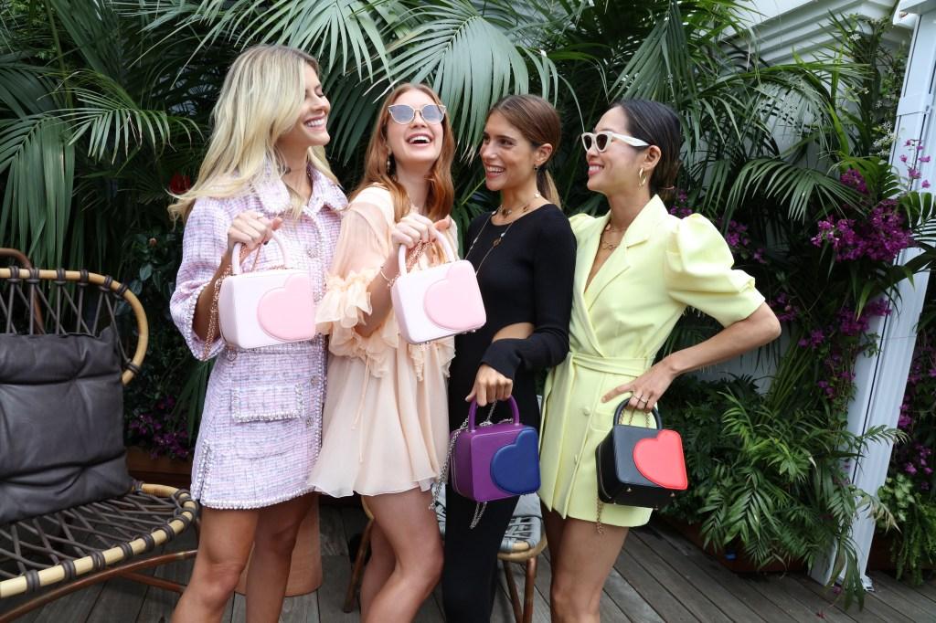 Lala Rudge, Marina Ruy, Barbosa Belen Hostalet and Aimee Song fêtes Chopard x Chloë Sevigny bag