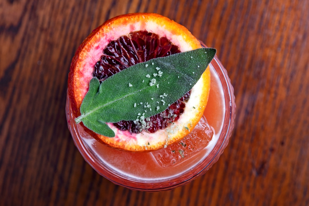 Blood Orange and Sage Margarita from Maya