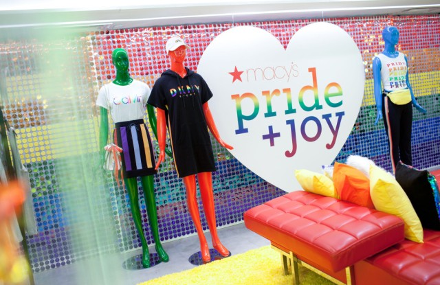 The Pride + Joy shop at Macy's flagship.