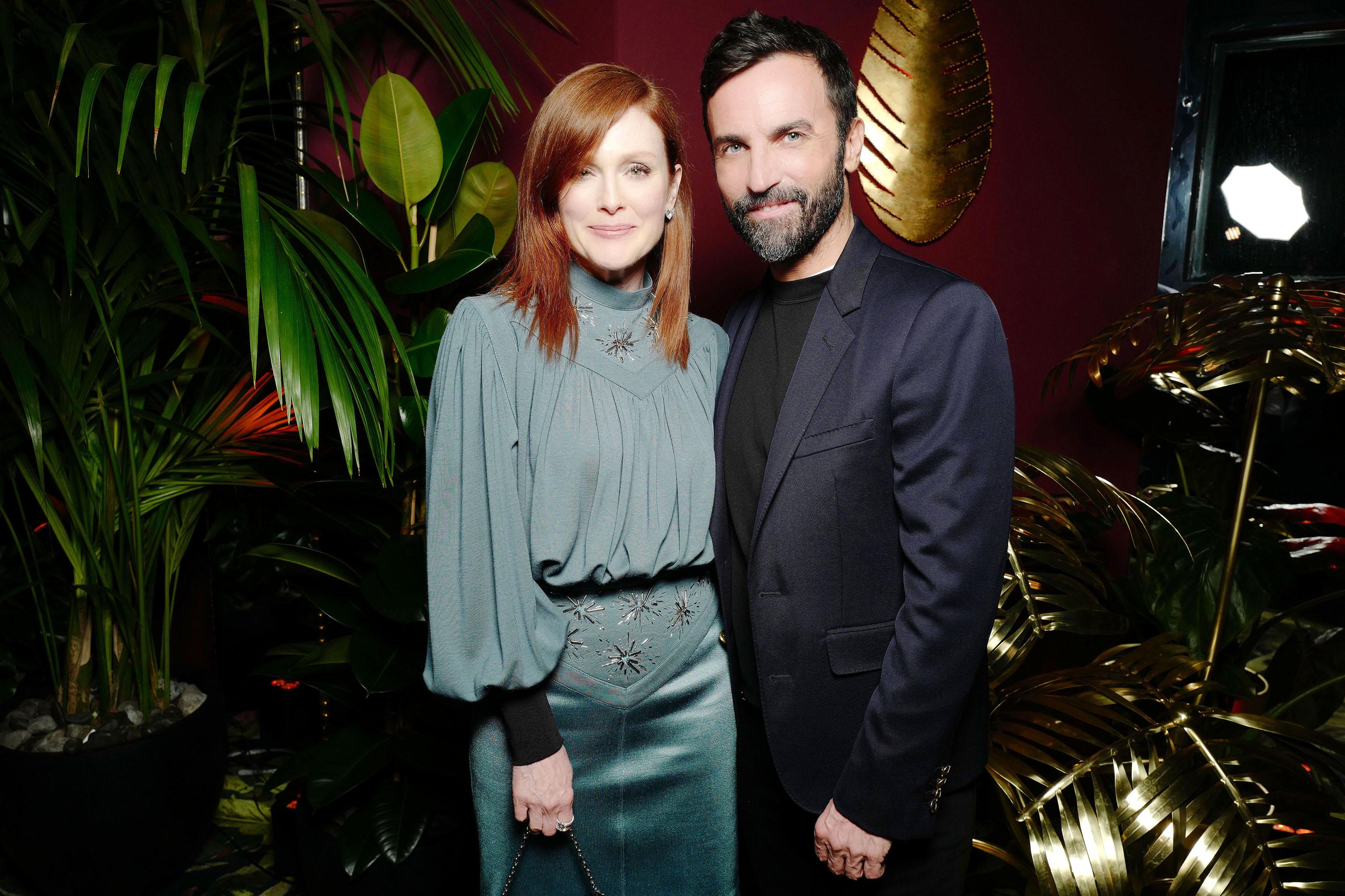 Julianne Moore and Nicolas Ghesquiere