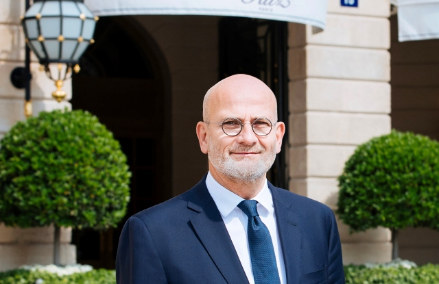 Marc Raffray is the new general manager of the Ritz Paris hotel