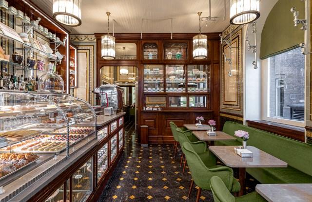 Inside of Marchesi 1824's London café.