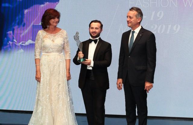 Gilberto Calzolari at the Montecarlo Fashion Week Awards.