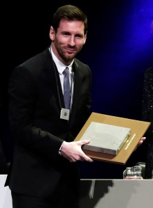 FC Barcelona's Lionel Messi receives Catalonia's highest distinction Creu Sant Jordi in Barcelona, Spain, . The award was created in 1981 by the Catalan government to recognise individuals who have successfully contributed to the identity of the regionMessi Creu Sant Jordi, Barcelona, Spain - 16 May 2019