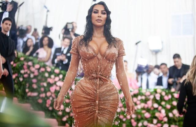 Kim Kardashian in Thierry Mugler.