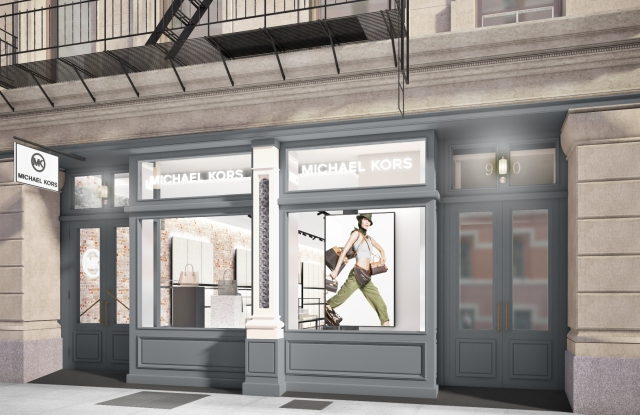 A rendering of the Michael Kors store at 90 Prince Street in SoHo.