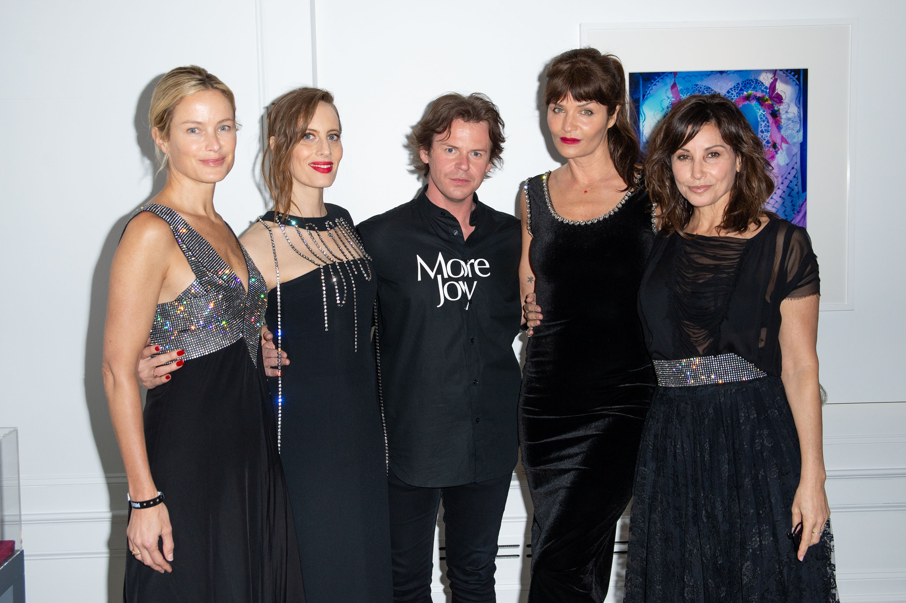Carolyn Murphy, Liz Goldwyn, Christopher Kane, Helena Christensen, and Gina Gershon