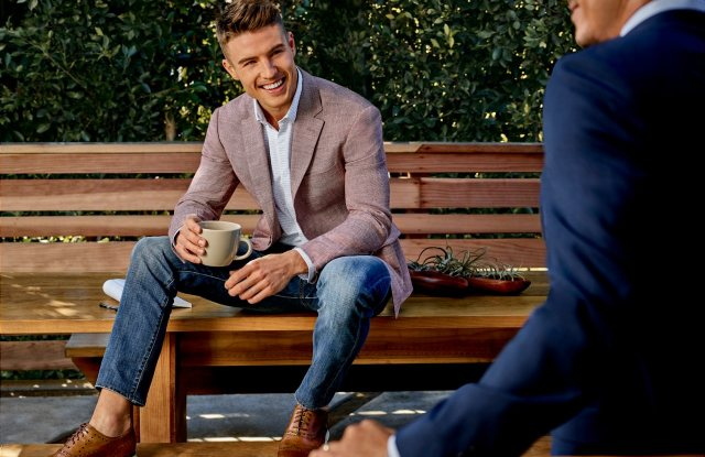 Polished casual looks at Men's Wearhouse.