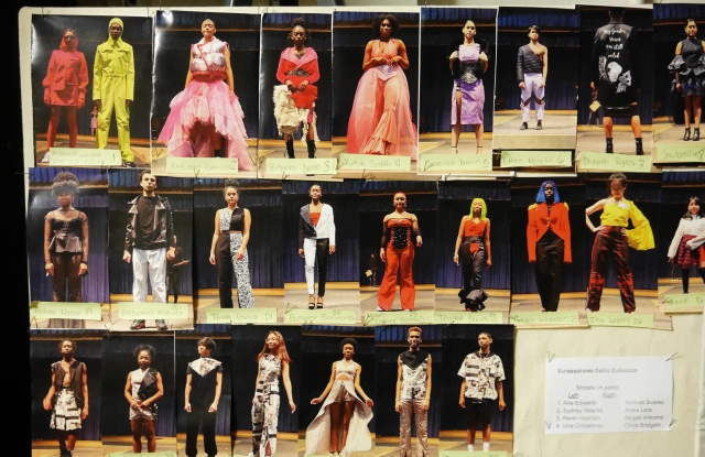 Backstage at the High School of Fashion Industries' annual fundraiser and fashion show.