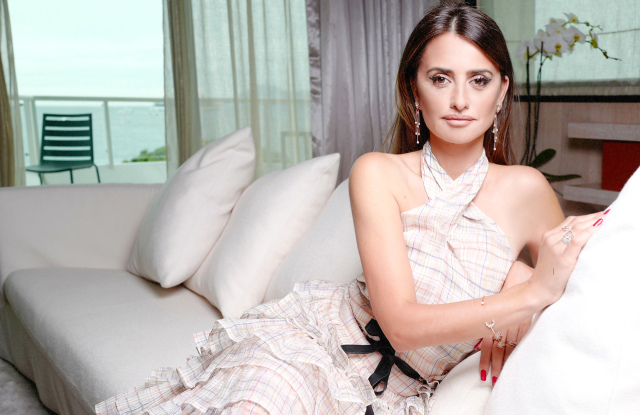 """Penelope Cruz (in Chanel) at the launch of her jewelry collection """"Moonsun"""" by Atelier Swarovski, 2019 Cannes Film Festival"""