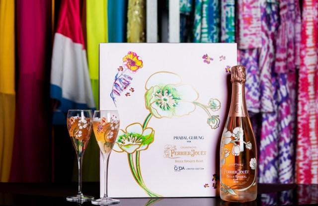 Prabal Gurung's Perrier-Jouet champagne flutes.