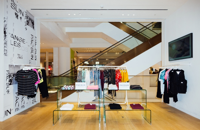 The Pacsun shop-in-shop in Selfridges