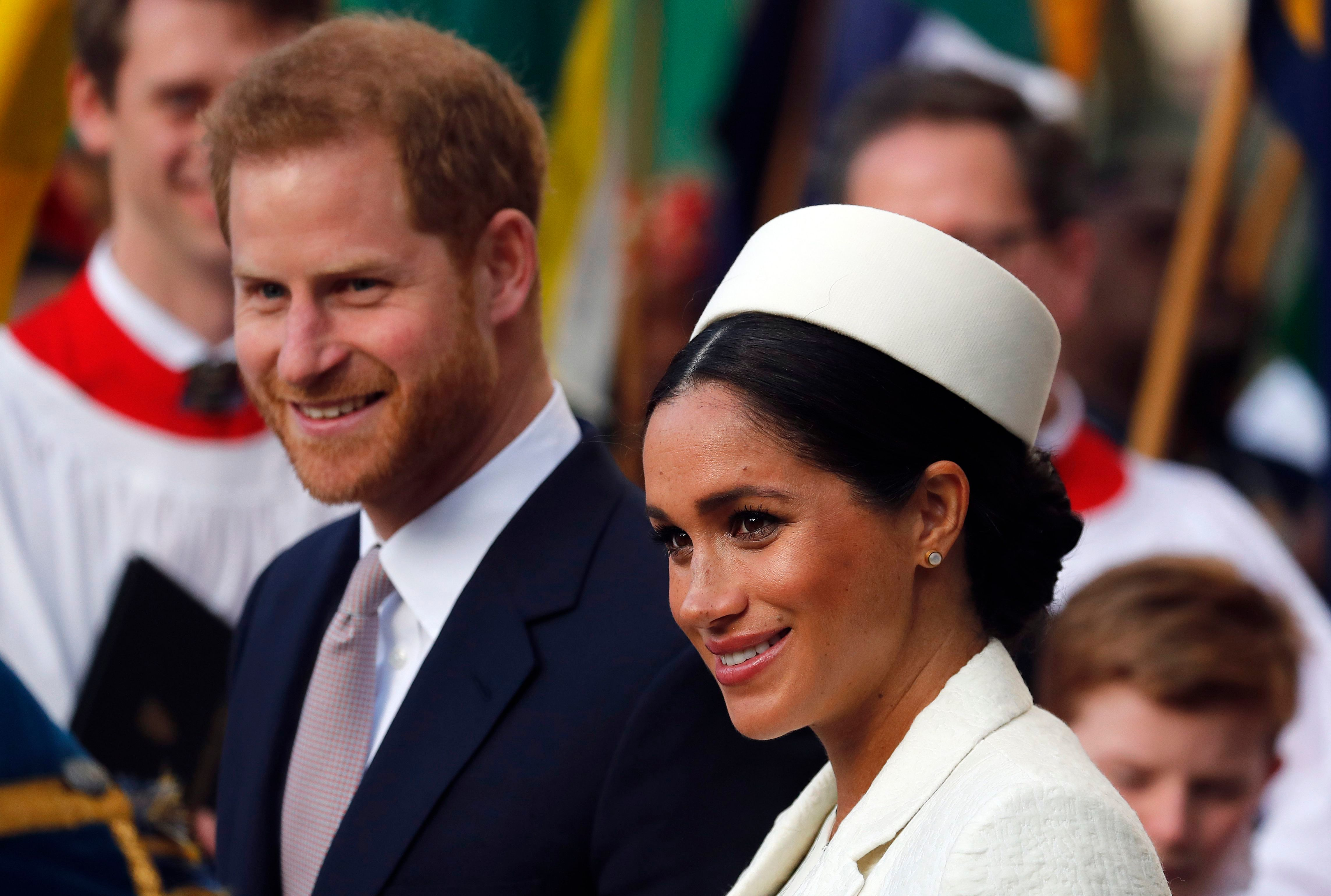 Meghan Duchess of Sussex and Britain's Prince Harry leave after attending the Commonwealth Service at Westminster Abbey on Commonwealth Day in London,. Commonwealth Day has a special significance this year, as 2019 marks the 70th anniversary of the modern Commonwealth - a global network of 53 countries and almost 2.4 billion people, a third of the world's population, of whom 60 percent are under 30 years oldRoyals, London, United Kingdom - 11 Mar 2019