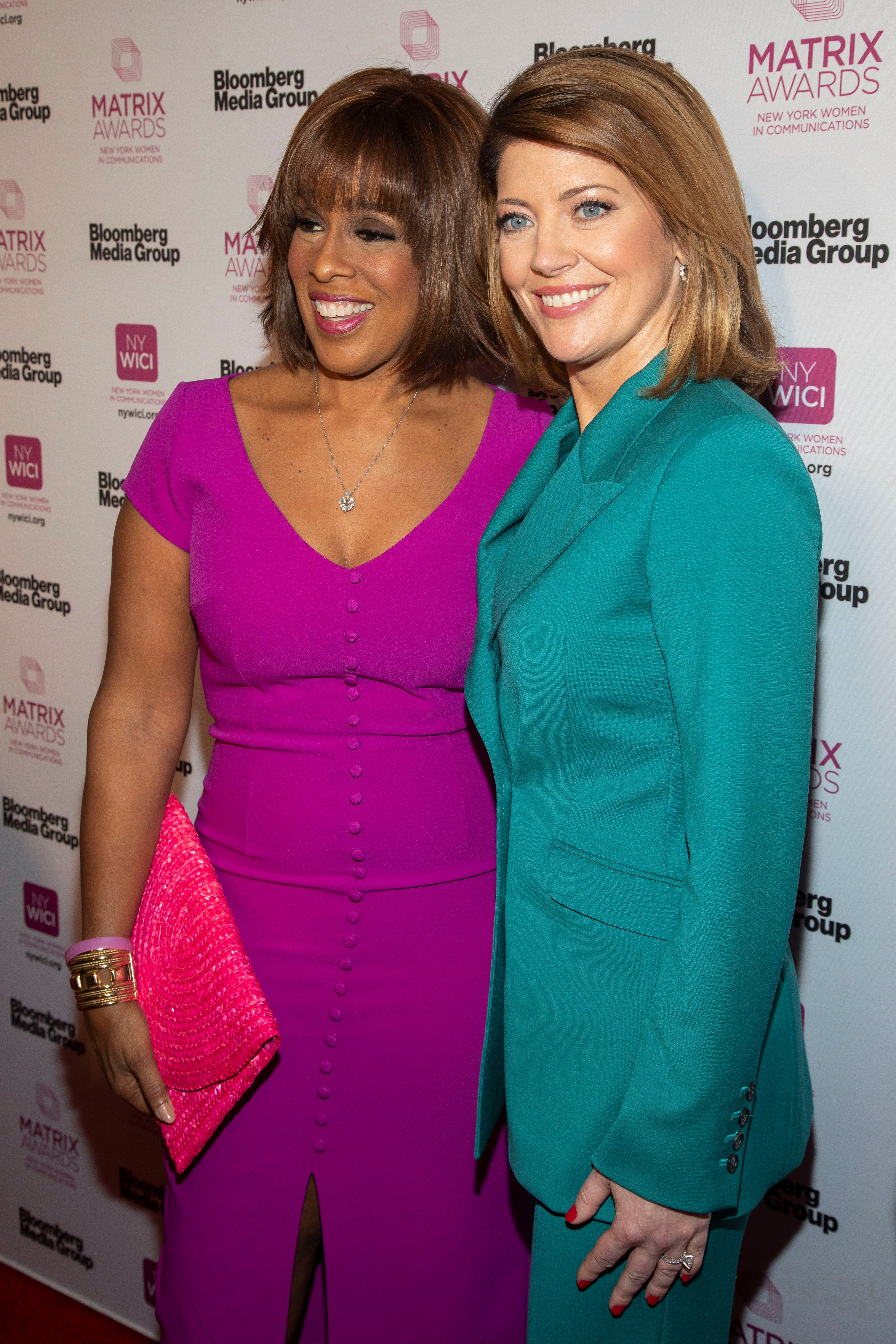 Gayle King, Norah O'Donnell. Gayle King, left, and Norah O'Donnell, right, attend the Matrix Awards at the Sheraton New York Times Square, in New York2019 Matrix Awards, New York, USA - 06 May 2019