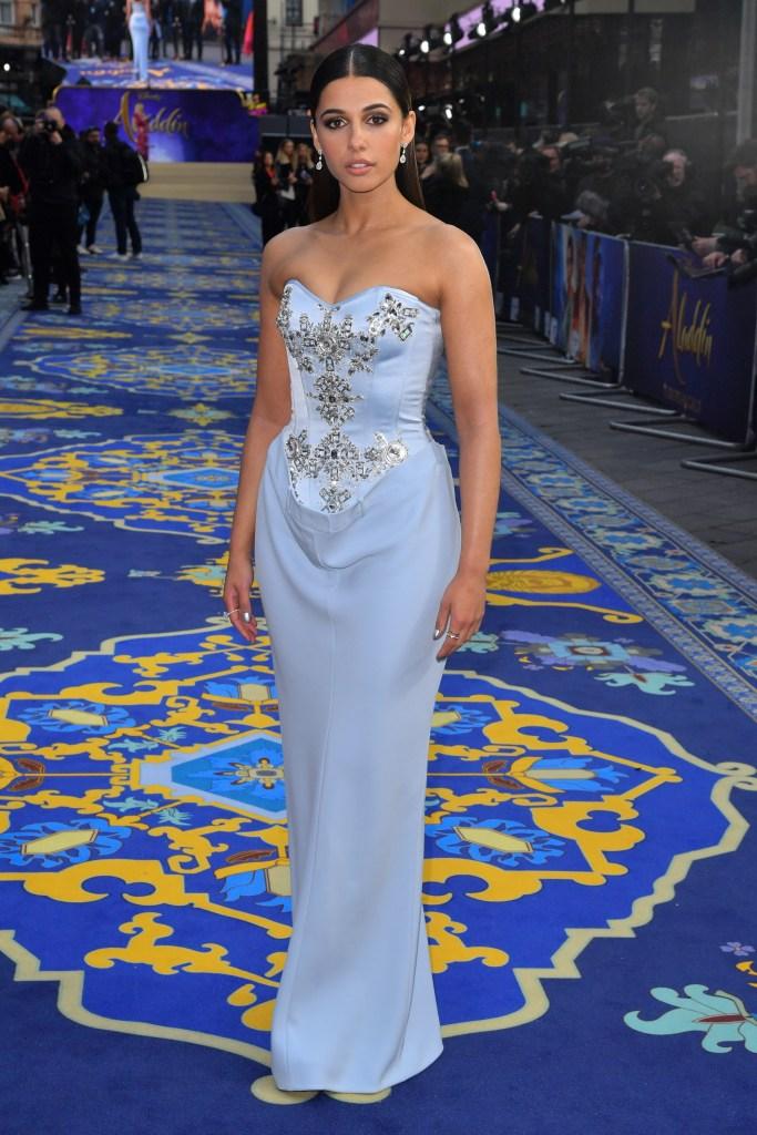 Naomi Scott'Aladdin' film premiere, London, UK - 09 May 2019Wearing Burberry, Custom