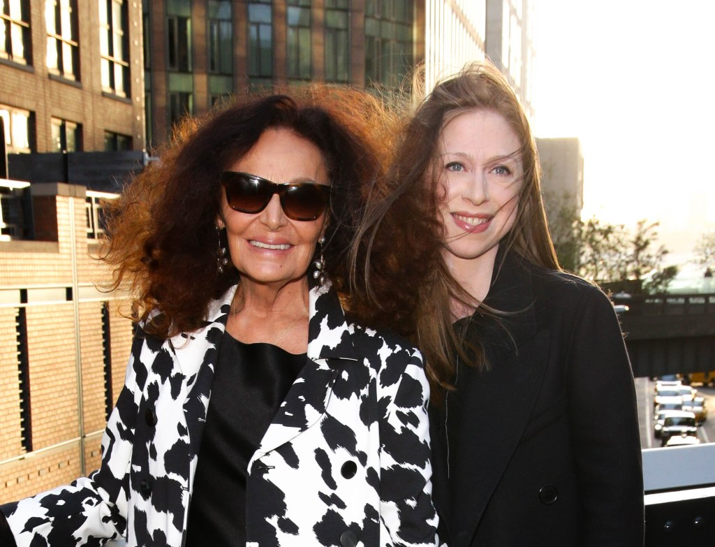 Diane von Furstenberga and Chelsea ClintonHigh Line 20th Anniversary Benefit, Arrivals, New York, USA - 21 May 2019