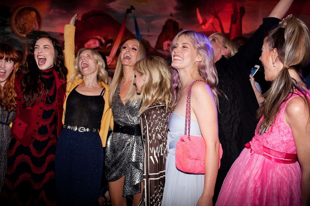 Elizabeth Jagger, Theodora Richards, Paris Hilton, Nicky Hilton Rothschild and Georgia May JaggerLaunch of the Equal Means Equal Campaign, New York, USA - 21 May 2019