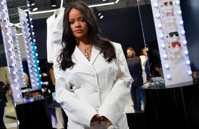 Rihanna poses as she unveils her first fashion designs for Fenty at a pop-up store in Paris, France, . Singer Rihanna is the first black woman in history to head up a major Parisian luxury house, and the collection, named after the singer turned designer's last name, comprises of ready-to-wear, footwear, accessories, and eyewear and is available for sale Paris' Le Marais area from Friday and will debut online May 29Rihanna, Paris, France - 22 May 2019