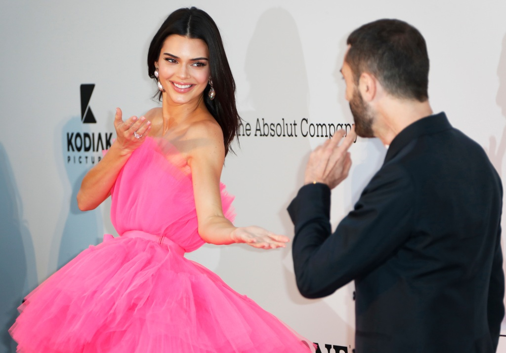Kendall Jenner (L) and Italian designer Giambattista Valli (R) attend the Cinema Against AIDS amfAR gala 2019 held at the Hotel du Cap, Eden Roc in Cap d'Antibes, France, 23 May 2019, within the scope of the 72nd annual Cannes Film Festival that runs from 14 to 25 May.amfAR Gala - 72nd Cannes Film Festival, Cap D'antibes, France - 23 May 2019