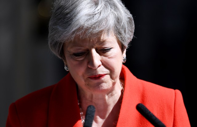 Theresa May announces her resignation outside No.10 Downing Street