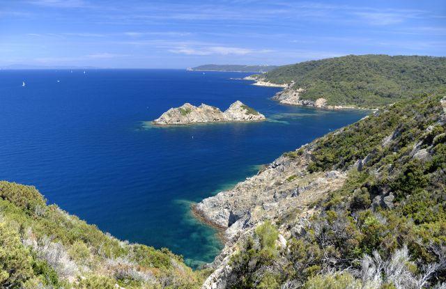Port-Cros National Park and Rascas Rocks, Iles d'Hyeres, Cote d'Azur, France.Islands of the Cote d'Azur, France