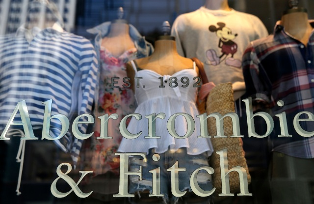 Items are displayed at an Abercrombie and Fitch retail outlet in New York. Abercrombie and Fitch reports earnings on Friday, June 1Earns Abercrombie and Fitch, New York, USA - 24 May 2018