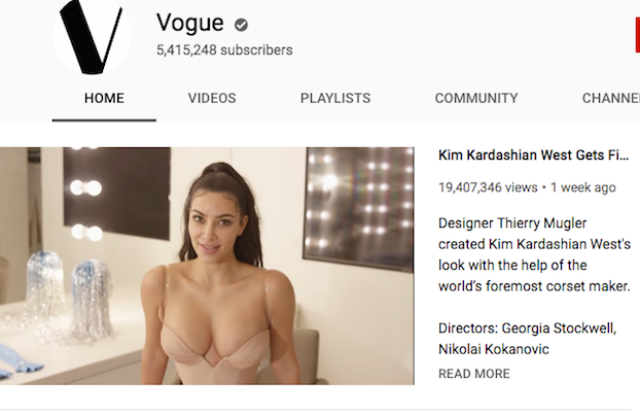 Vogue's YouTube channel just surpassed 5 million subscribers.