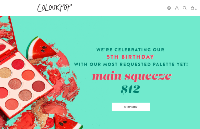 Colourpop.com had the most traffic in April.