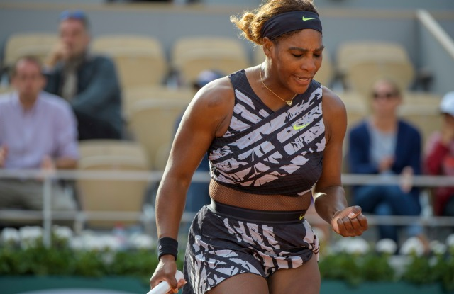 Serena Williams (USA) in action against Vitalia Diatchenko (RUS).French Open Tennis Championship, Day One, Roland Garros, Paris, France, - 27 May 2019