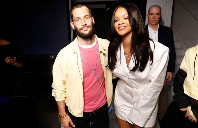 Simon Porte Jacquemus and Rihanna.
