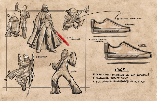 A sketch for the Toms and Star Wars collection.