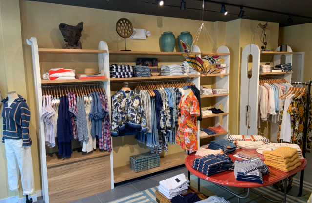 The women's shop at Faherty's Bleecker Street store.