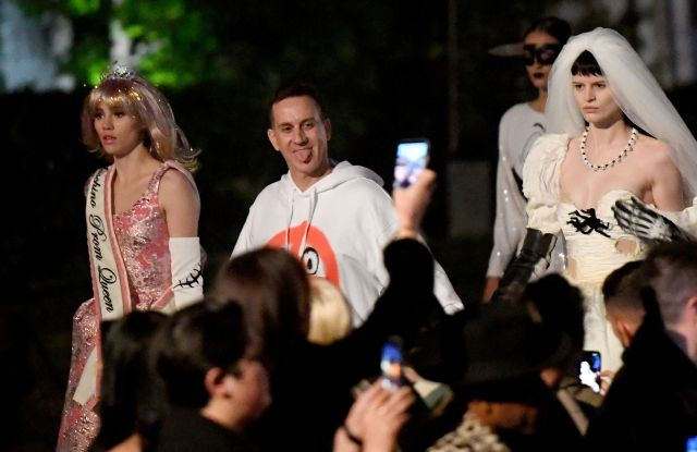 Suki Waterhouse and Jeremy Scott on the runwayMoschino Show, Runway, Spring Summer 2020, Los Angeles, USA - 07 Jun 2019