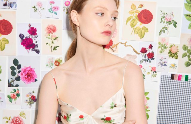 A high summer look from Bernadette, which is launching at Selfridges and other stores in the U.S. and Europe.