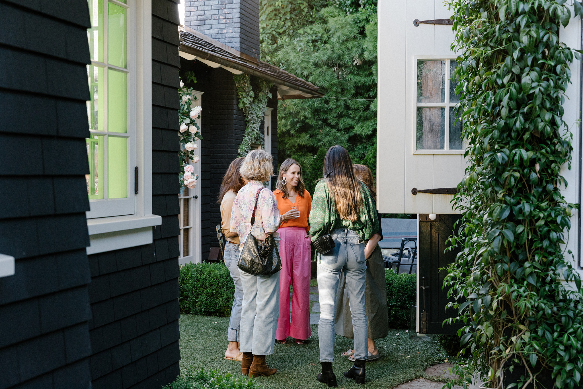 Stella and Dot creative director Blythe Harris threw a cocktail party for SF-based founders, designers, and stylists at her home in Mill Valley, CA, June 4, 2019. Jason Henry for WWD