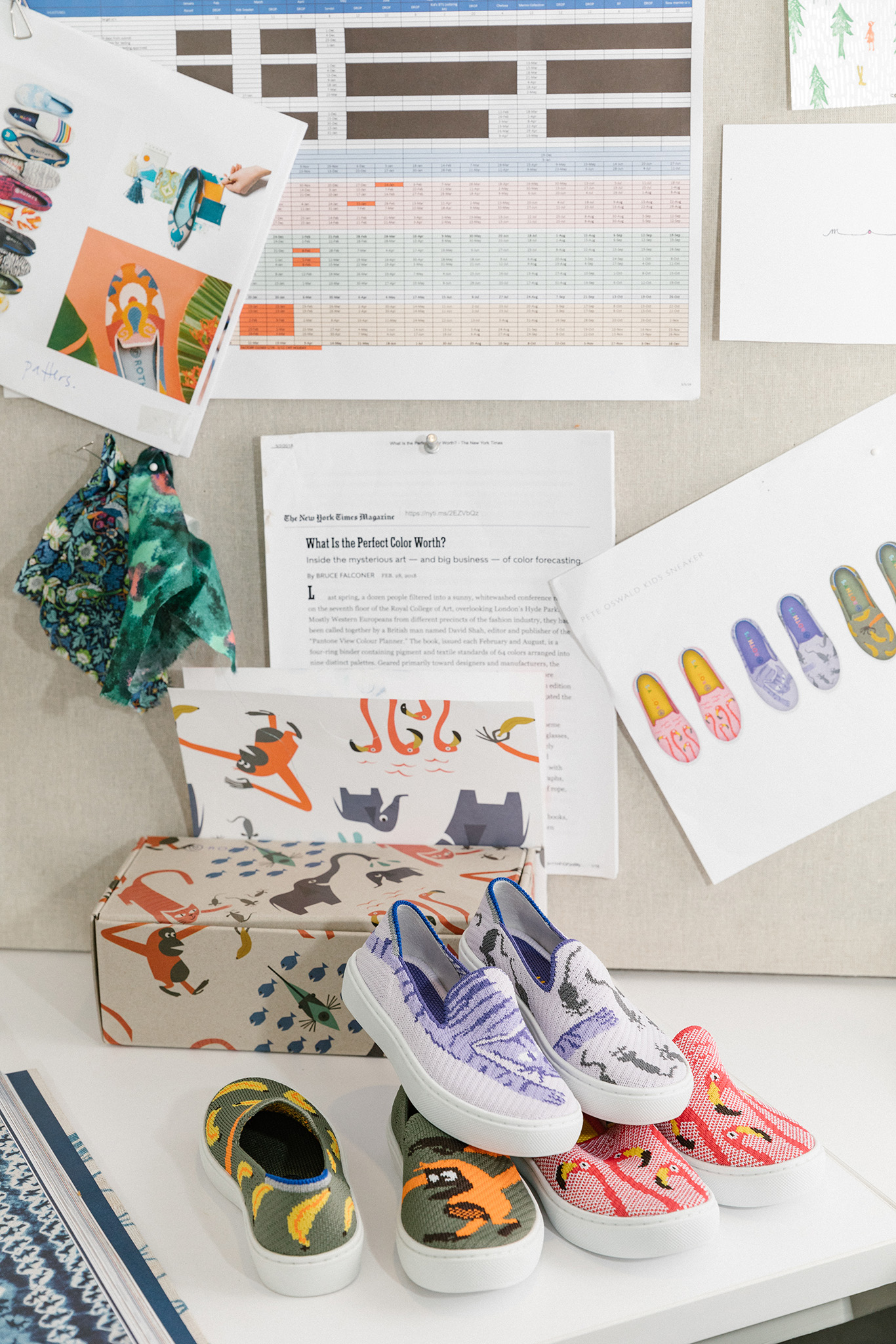 Design tools at the desk of Rothy's shoes creative director Erin Lowenberg at their headquarters in San Francisco, CA, June 4, 2019. Jason Henry for WWDErin Lowenberg of Rothy's in her studio.